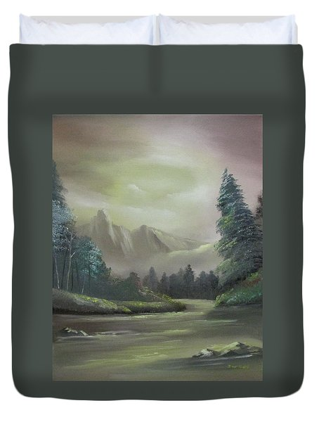 Mountain River Duvet Cover by Dawn Nickel
