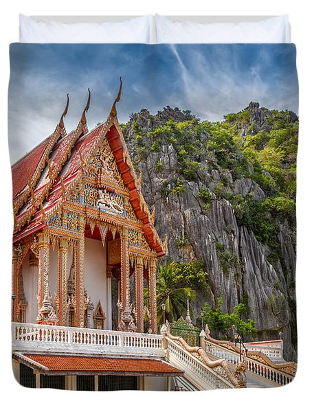 Mountain Temple Duvet Cover by Adrian Evans