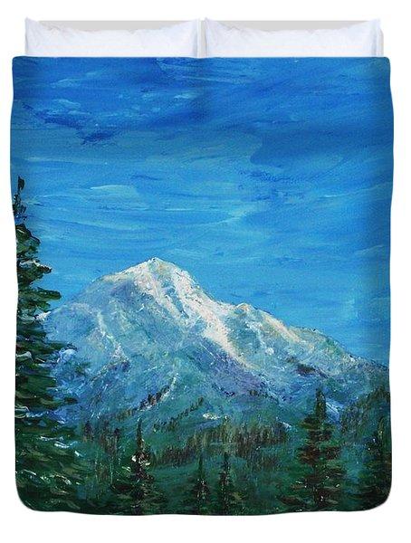 Mountain View Duvet Cover by Anastasiya Malakhova