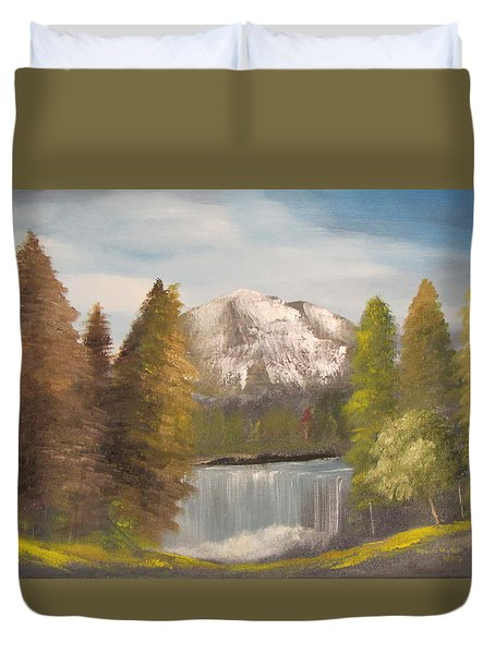 Mountain View Duvet Cover by Dawn Nickel
