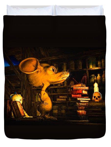 Mouse In The Attic Duvet Cover by Bob Orsillo