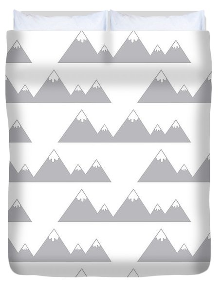 Moutain Print Duvet Cover by Susan Claire
