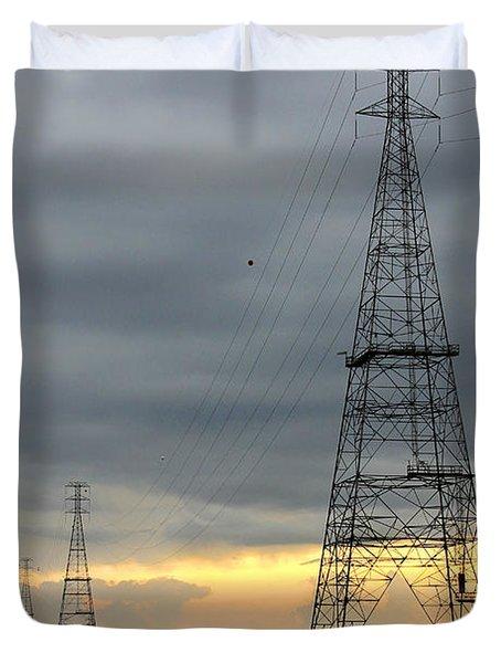 Moving Power Duvet Cover by Mike McGlothlen