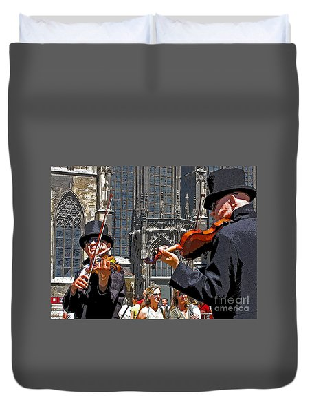Mozart In Masquerade Duvet Cover by Ann Horn