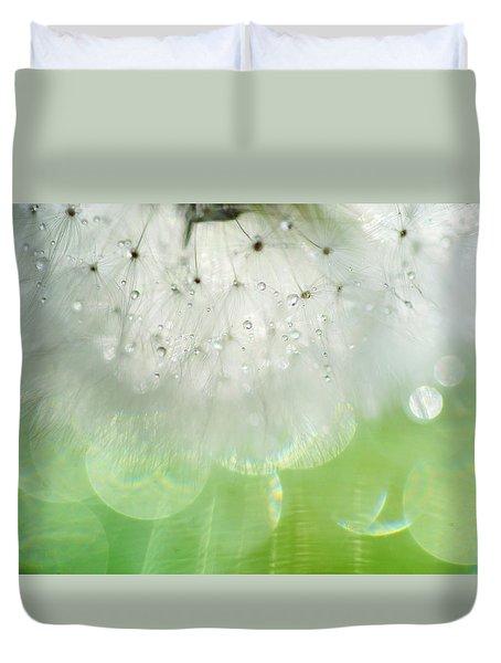 Mr. Dandelion. Inner Light Duvet Cover by Jenny Rainbow