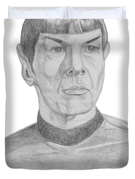 Mr. Spock Duvet Cover by Thomas J Herring