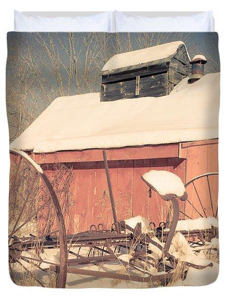 Mt. Cube Farm Old Sugar Shack Duvet Cover by Edward Fielding