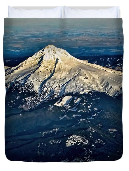 Mt Hood Duvet Cover by Jon Burch Photography