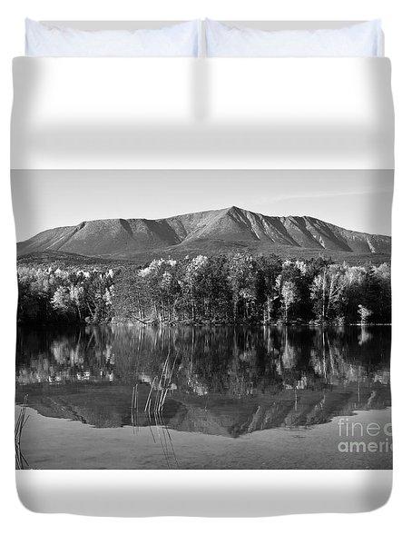 Mt Katahdin Black And White Duvet Cover by Glenn Gordon