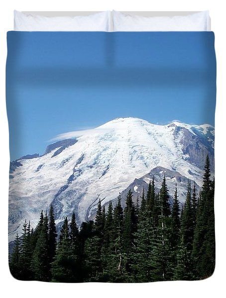 Mt. Rainier In August Duvet Cover by Chalet Roome-Rigdon