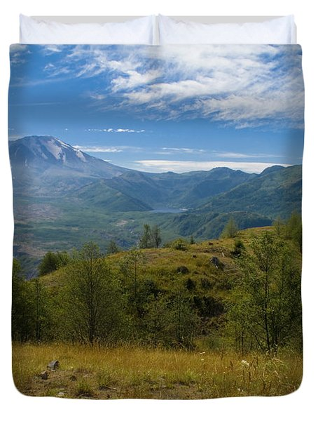 Mt St Helens I Duvet Cover by Brian Harig