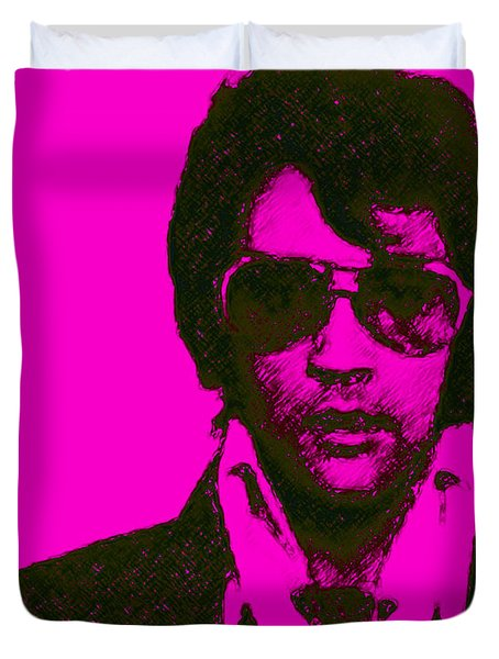 Mugshot Elvis Presley m80 Duvet Cover by Wingsdomain Art and Photography