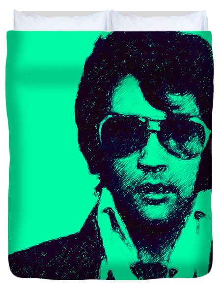 Mugshot Elvis Presley p128 Duvet Cover by Wingsdomain Art and Photography