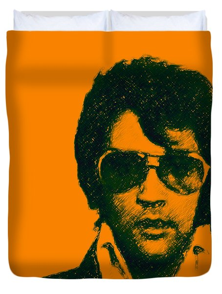 Mugshot Elvis Presley Square Duvet Cover by Wingsdomain Art and Photography