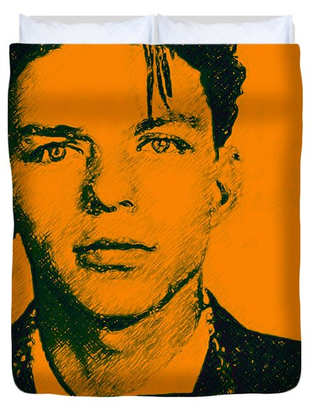 Mugshot Frank Sinatra v1 Duvet Cover by Wingsdomain Art and Photography