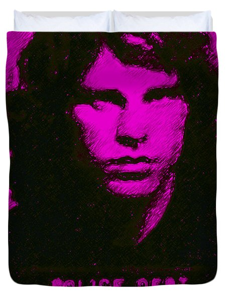 Mugshot Jim Morrison m88 Duvet Cover by Wingsdomain Art and Photography