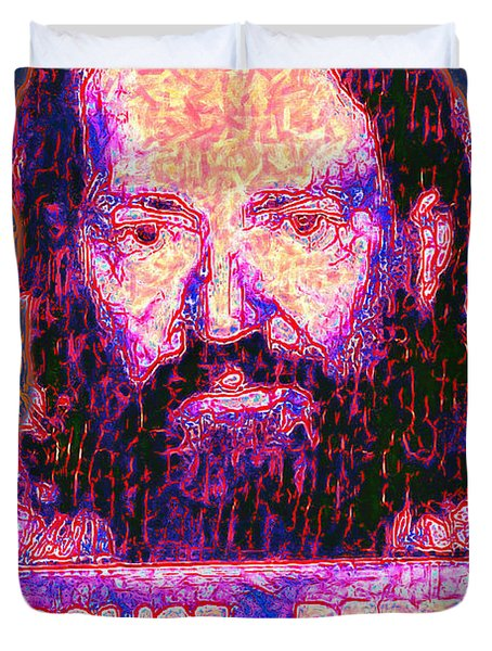 Mugshot Willie Nelson Painterly 20130328 Duvet Cover by Wingsdomain Art and Photography