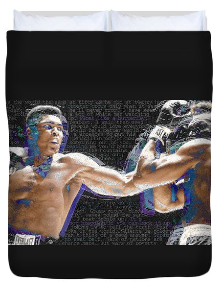 Muhammad Ali Duvet Cover by Tony Rubino