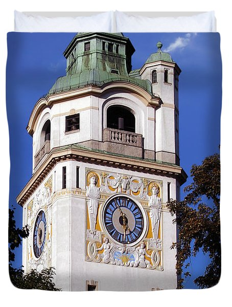Mullersches Volksbad Munich Germany - A 19th Century Spa Duvet Cover by Christine Till