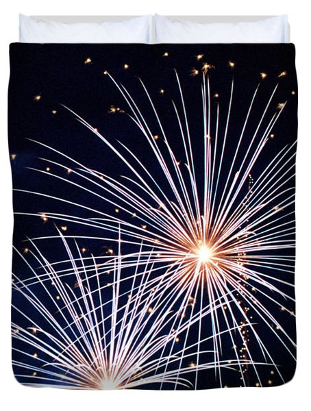 4th Of July Fireworks 3 Duvet Cover by Howard Tenke