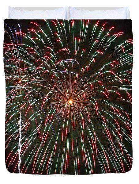 4th Of July Fireworks 16 Duvet Cover by Howard Tenke