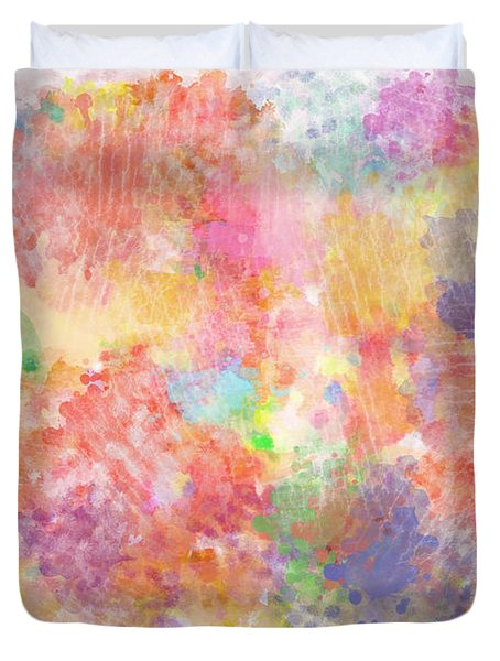 Multi Colored Ditgital Abstract 5 Duvet Cover by Debbie Portwood
