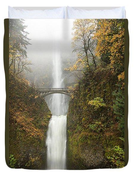 Multnomah Autumn Mist Duvet Cover by Mike  Dawson