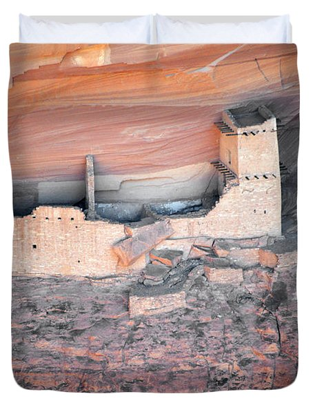 Mummy Cave Ruin Canyon Del Muerto Duvet Cover by Christine Till
