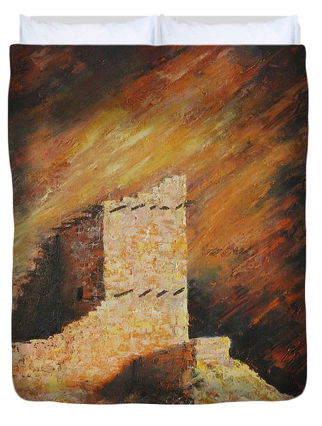 Mummy Cave Ruins 2 Duvet Cover by Jerry McElroy