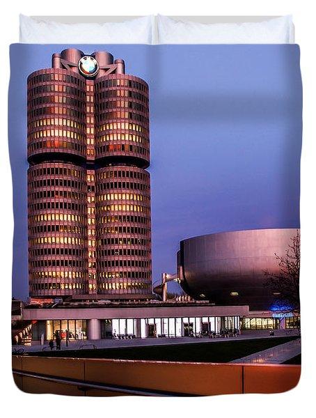 munich - BMW office - vintage Duvet Cover by Hannes Cmarits