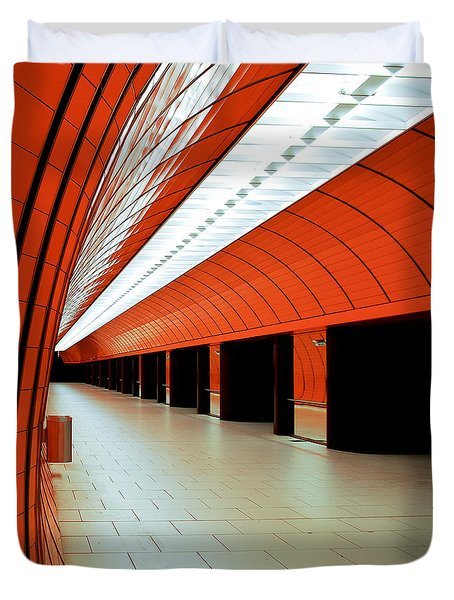 Munich Subway I Duvet Cover by Hannes Cmarits