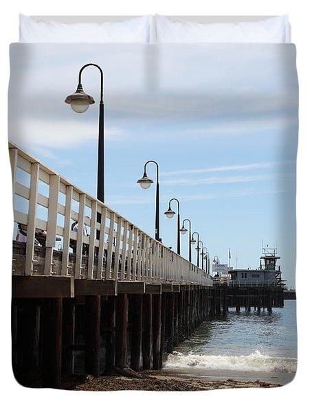 Municipal Wharf At The Santa Cruz Beach Boardwalk California 5D23768 Duvet Cover by Wingsdomain Art and Photography