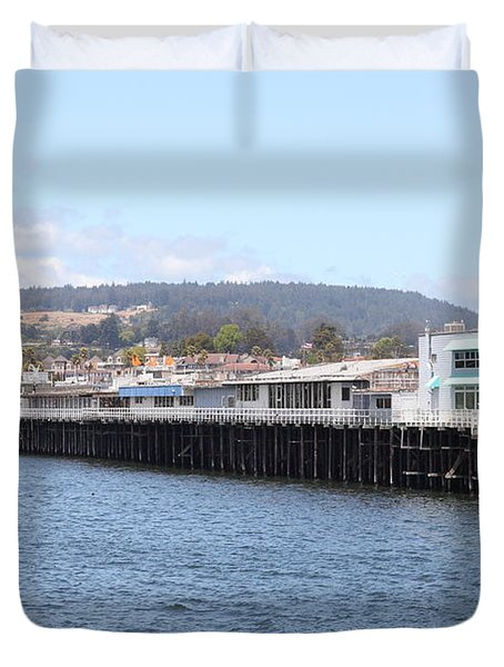 Municipal Wharf At The Santa Cruz Beach Boardwalk California 5d23813 Duvet Cover by Wingsdomain Art and Photography