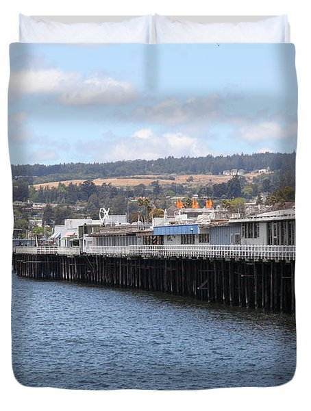 Municipal Wharf At The Santa Cruz Beach Boardwalk California 5D23815 Duvet Cover by Wingsdomain Art and Photography