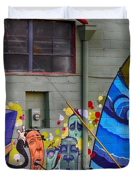 Mural - Wall Art Duvet Cover by Liane Wright