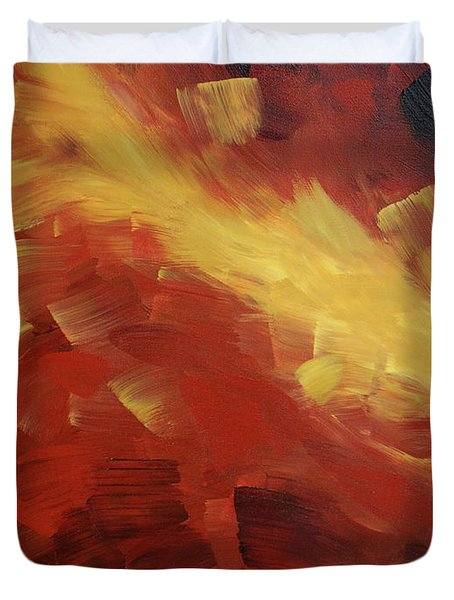 Muse In The Fire 1 Duvet Cover by Sharon Cummings