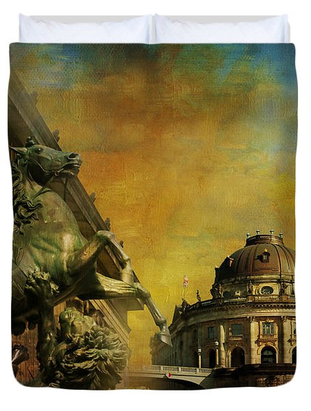 Museum Island Duvet Cover by Catf