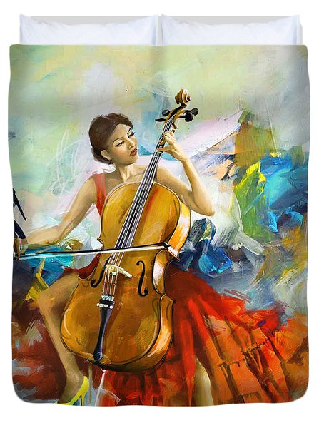 Music Colors And Beauty Duvet Cover by Corporate Art Task Force
