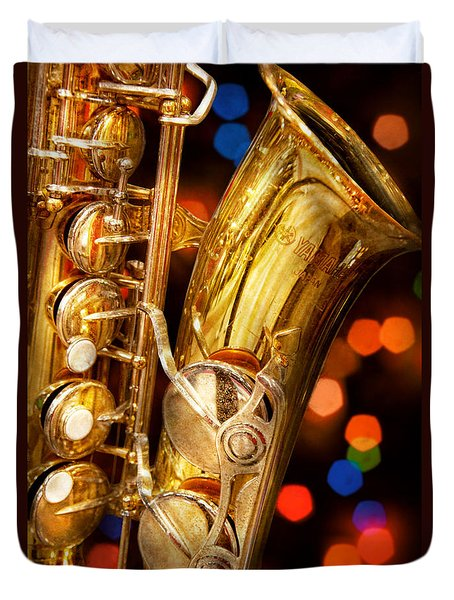 Music - Sax - Very Saxxy Duvet Cover by Mike Savad