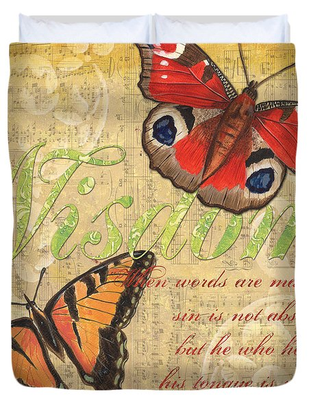 Musical Butterflies 4 Duvet Cover by Debbie DeWitt