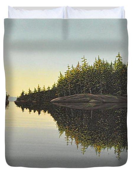Muskoka Solitude Duvet Cover by Kenneth M  Kirsch