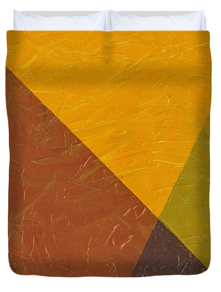 Mustard and Pickle Duvet Cover by Michelle Calkins