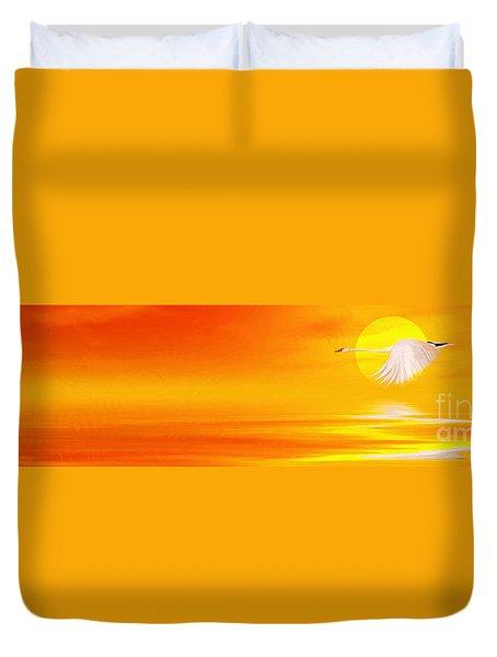 Mute Sunset Duvet Cover by John Edwards