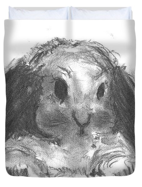 My Baby Bunny Duvet Cover by Laurie D Lundquist