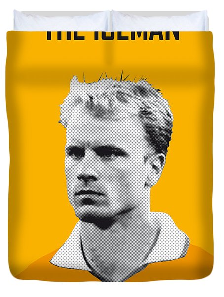 My Bergkamp Soccer Legend Poster Duvet Cover by Chungkong Art