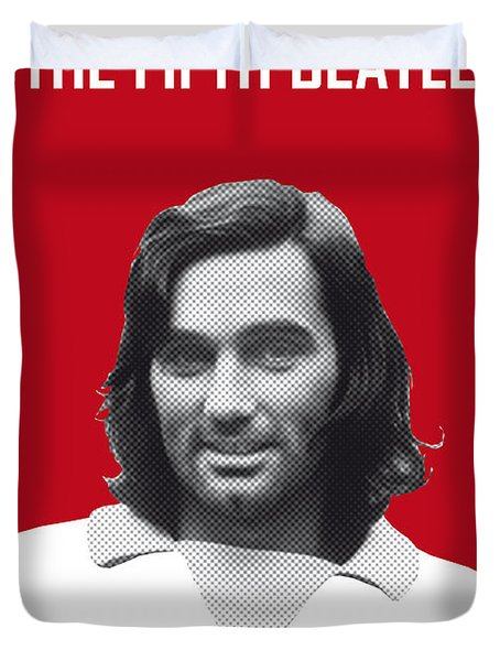 My Best Soccer Legend Poster Duvet Cover by Chungkong Art