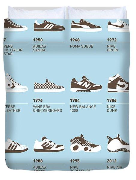 My Evolution Sneaker Minimal Poster Duvet Cover by Chungkong Art