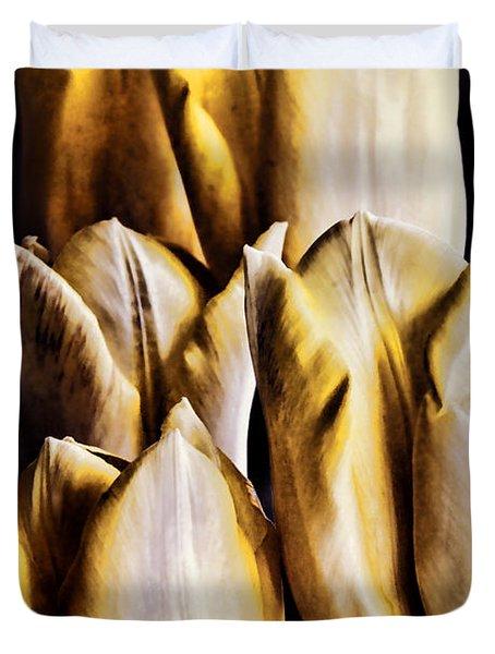 My Favorite Tulips Duvet Cover by Mariola Bitner