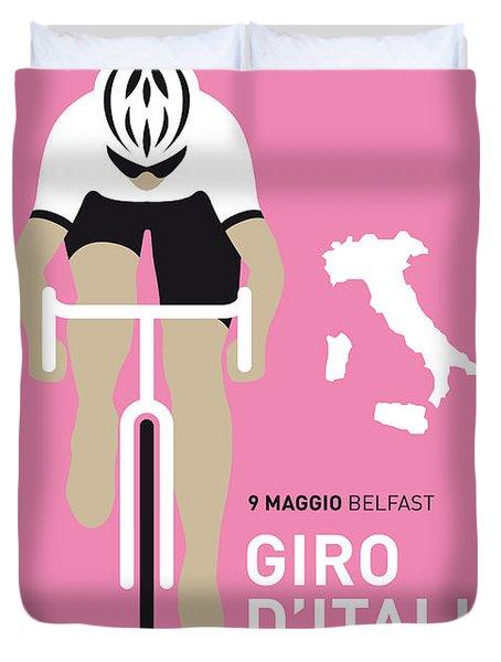 My Giro D Italia Minimal Poster 2014 Duvet Cover by Chungkong Art