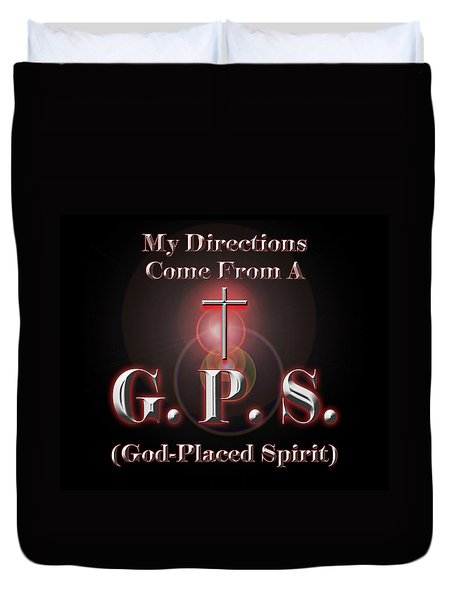 My GPS Duvet Cover by Carolyn Marshall